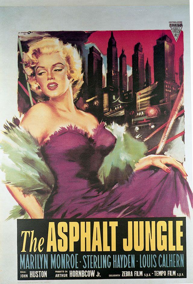 marilyn monroe movie poster from the asphalt jungle movie