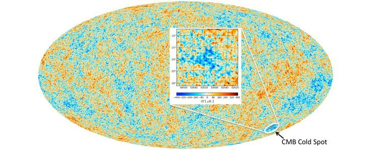 It's called the ' Cold Spot ': an unusually cool region in the background radiation that has lingered throughout the Universe since just after the Big Bang.