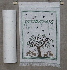 Primavera (Spring), designed by Renato Parolin, for Il Telaio (The Frame), stitched by Tiziana, a librarian.