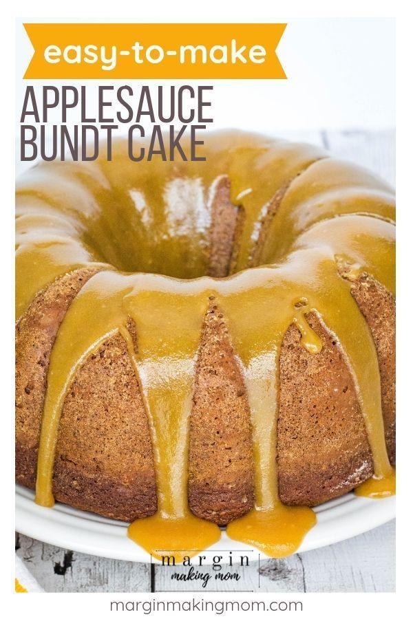 Delicious Applesauce Bundt Cake With Caramel Glaze Recipe Applesauce Bundt Cake Recipe Bundt Cake Applesauce