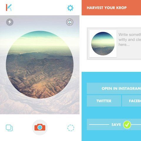 Krop Circle App Fits Square Pics in Round Holes