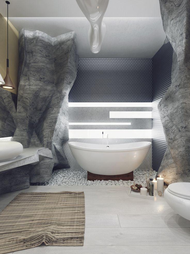 Unique and elegant bathroom design... | Visit : roohome.com  #bathroom #bathroomdesign #bathroomdecor #amazing #modern #beautiful #unique #gorgeous #fabulous #interior #simple #design #decoration