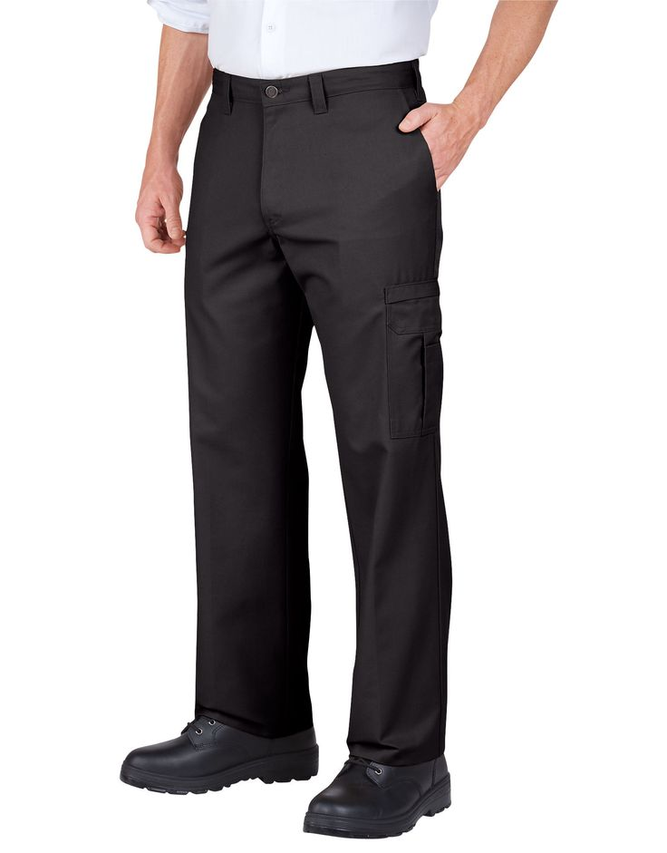 DICKIES INDUSTRIAL RELAXED FIT CARGO PANT - BLACK - DOW CHARCOAL
