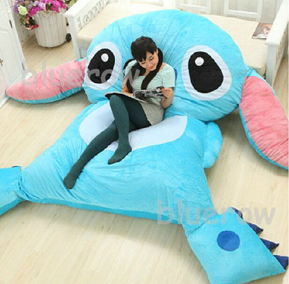 There is a stitch Design bed! one or Double stitch bed.Your children must love it.  Cute Giant stitch cushion bed looks very cute. Its fulfilled with