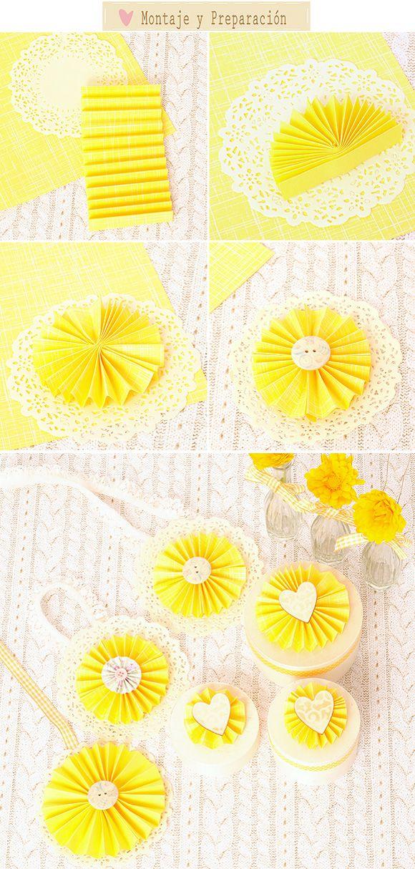Abanicos de papel: ¿como realizar abanicos de papel para decorar vuestra boda? Un DIY muy sencillo y divertido.