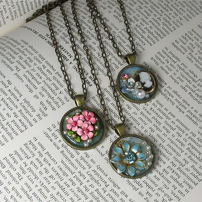 tutorial Easy DIY Vintage Collage Pendants