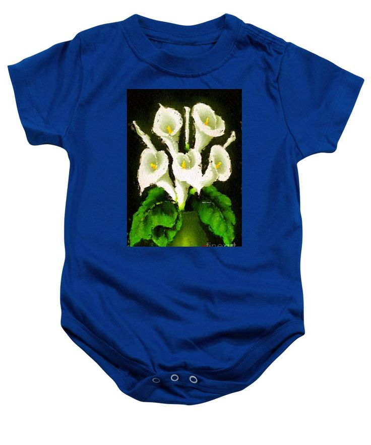 Baby Onesie - Abstract Flower 079