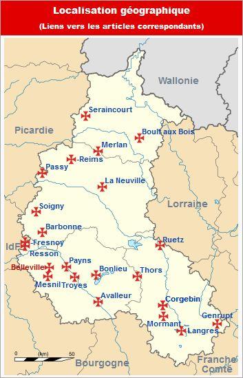 Commanderies templières en Champagne-Ardenne, France
