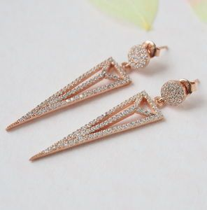 Rose Gold Spike Earrings - earrings