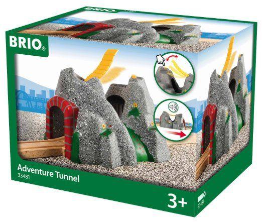 Brio - 33481 - Circuits de train en bois - Tunnel d'aventures