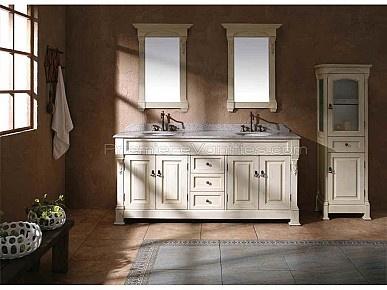 White vanity...with feet | Bathroom Ideas | Pinterest