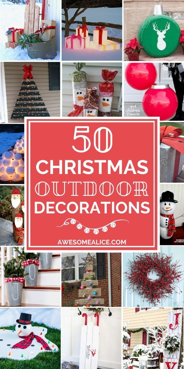 50 Best Diy Outdoor Christmas Decorations Outdoor Christmas Diy
