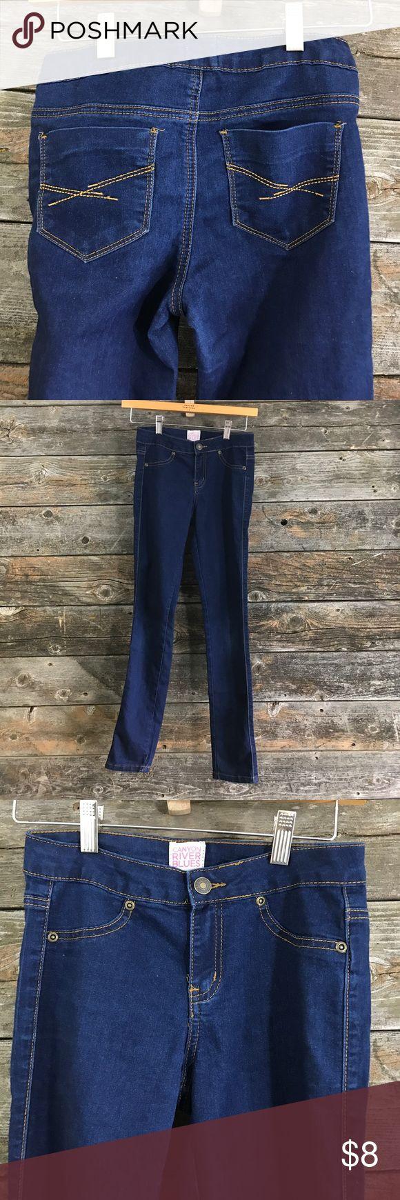 💜Sz 12 CANYON River Blues Jeggings Like new, dark blue jeggings. canyon river blues Bottoms Jeans