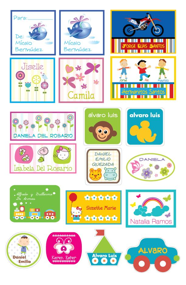 Stickers para regalos stickers para regalos pinterest for Stickers infantiles
