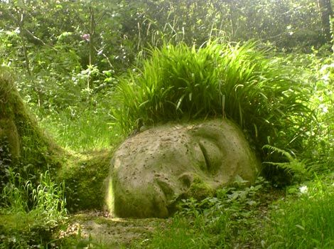 This is the Sleeping Moss Giant in the Lost Gardens of Heligan.