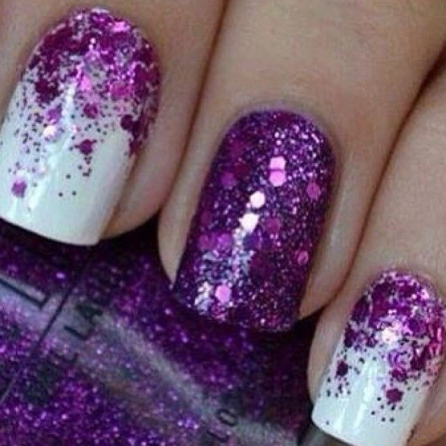 Purple sparkle nails  | See more nail designs at http://www.nailsss.com/nail-styles-2014/