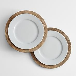 wooden charger plates from RedEnvelope.com