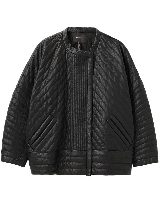 Quilted oversized bomber by #IsabelMarant