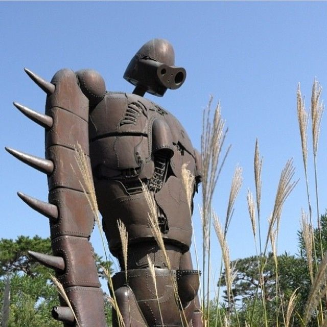 More from @pedalwink in #Japan. Sculpture at the #StudioGhibli museum, up on the rooftop garden. #Tokyo #Japan. What's your favourite Studio Ghibli film? #lonelyplanet #travel #animation
