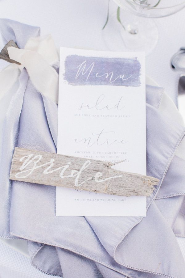 Beach-inspired wedding decor: http://www.stylemepretty.com/2017/03/13/romantic-coastal-inspiration-shoot/ Photography: Lauren Werkheiser - http://www.laurenwerkheiserphotography.com/