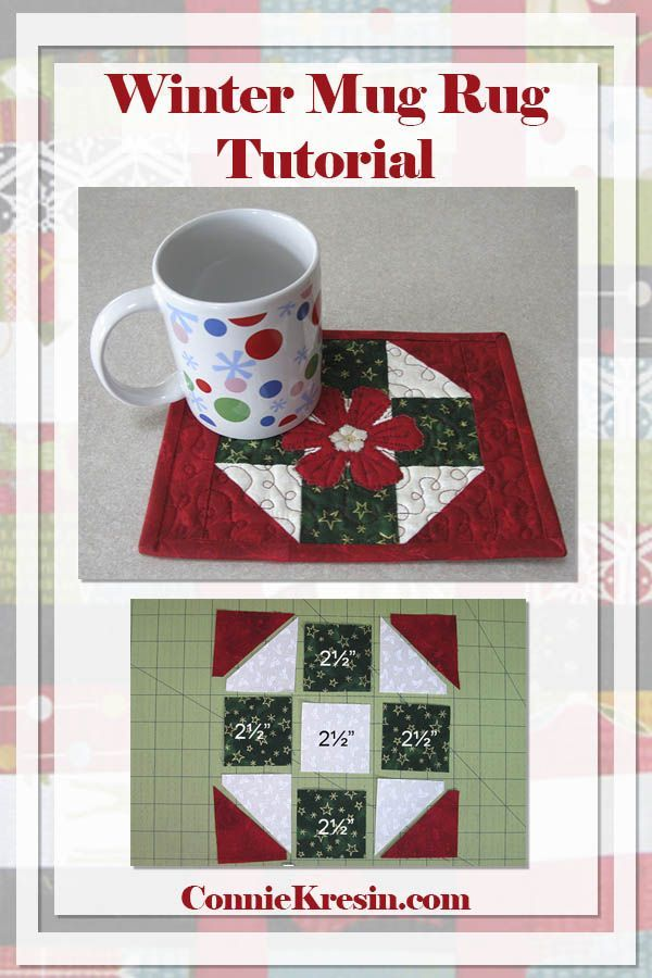 Winter Mug Rug Tutorial That Makes A Great Gift For Christmas Quilt Mugrug Lique