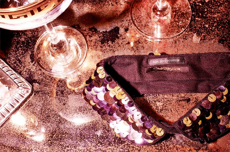 Her collar, a symphony in sequins, shone like a beacon of glitz... A Sequin Party Collar by Scotch & Soda