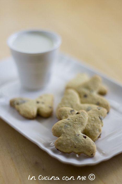 Biscotti con farina d'avena e cioccolato