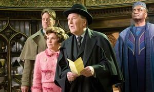 Robert Hardy, second from right, in Harry Potter and the Order of the Phoenix, 2007.