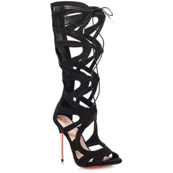 CARVELA Gylda Sandals ($41) ❤ liked on Polyvore featuring shoes, sandals, black, kohl shoes, black sandals, carvela shoes and black shoes