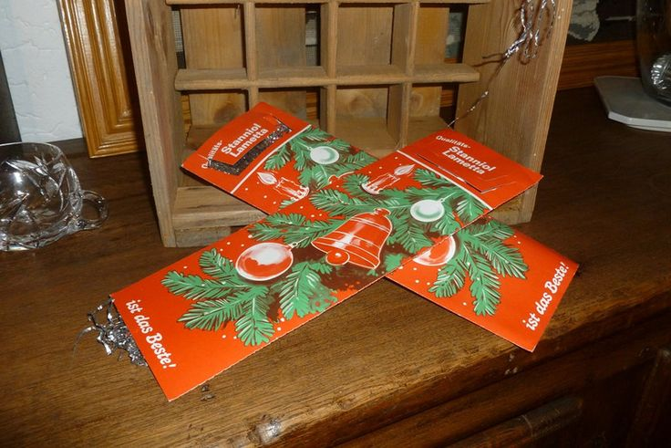 Vintage Weihnachtsdeko - 3 x uraltes original Stanniol LAMETTA silber - ein Designerstück von ClaudiasBayernCottage bei DaWanda