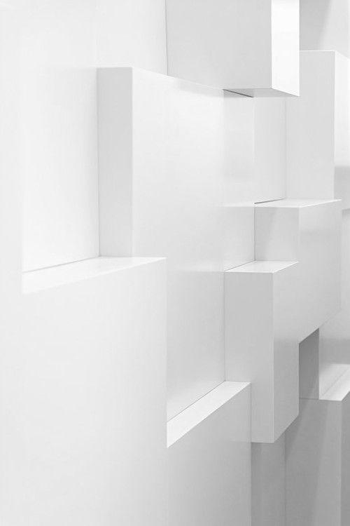 White Bricks architecture, cube, modern, contemporary design