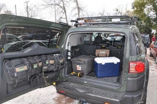 Fj Cruiser Gear And Gun Storage Prepping Pinterest