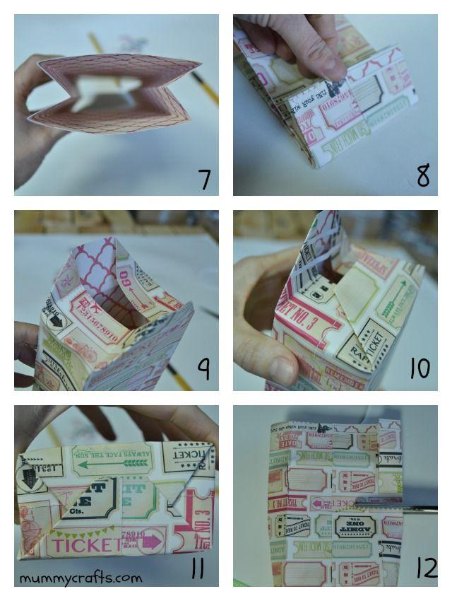 C mo hacer una bolsa de papel paso a paso bolsas de - Como hacer bolsas de regalo ...
