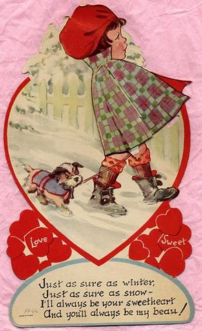 "Vintage Valentine's Day ....""and you'll always be my beau!"""