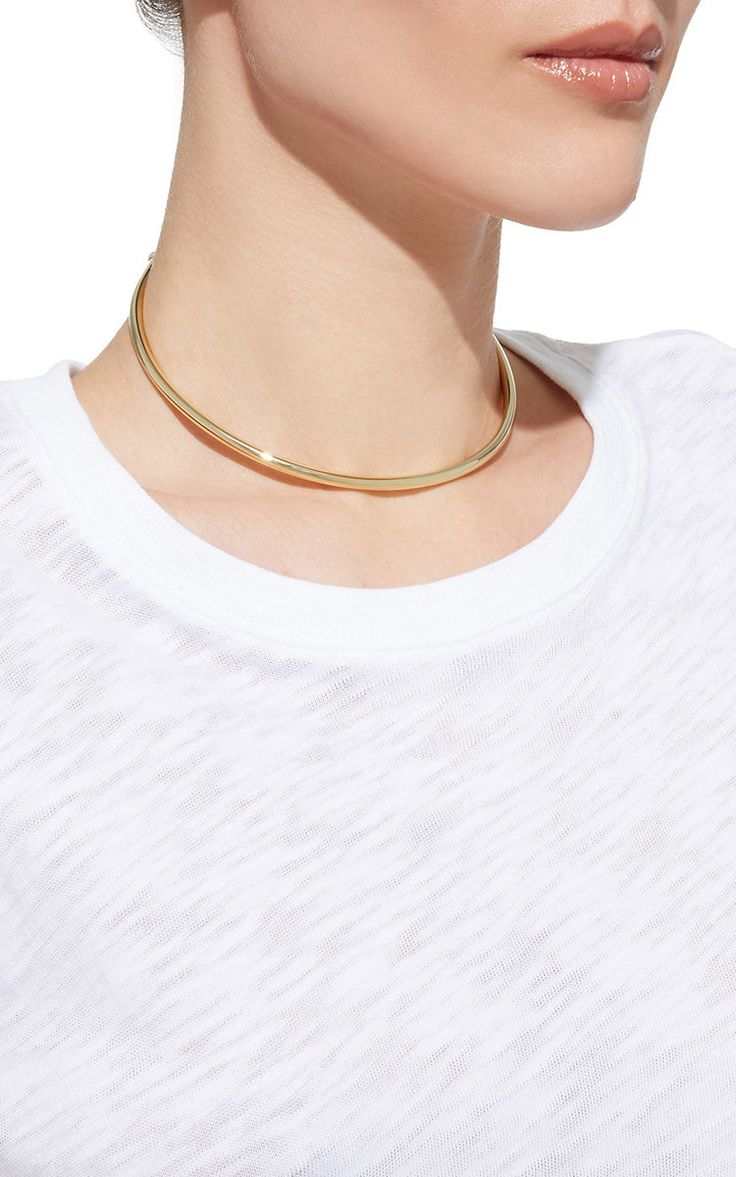 Single Pipe Choker in Gold by Jennifer Fisher | Moda Operandi