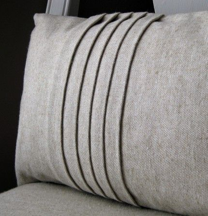 5 pleat pillow