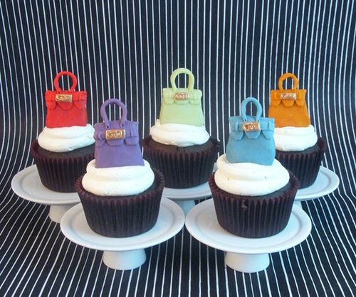 HERMES CUPCAKES | Hermes purse cupcakes | Flickr - Photo Sharing!