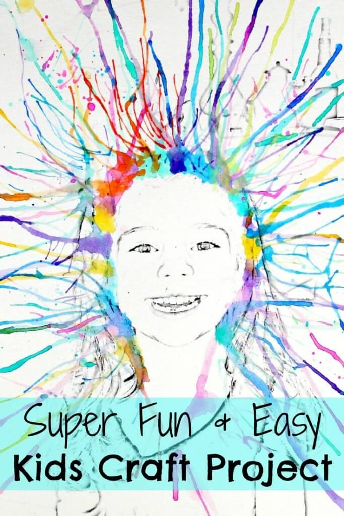 Super Easy Watercolor Kids Craft Project!!!
