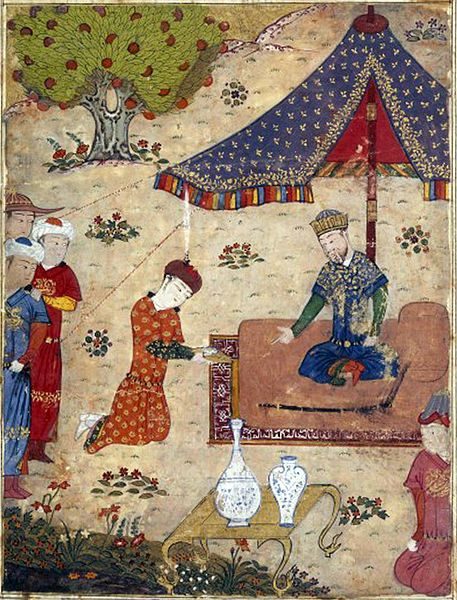 Tekuder receives an embassy. Tarikh-i Jahangushay-i Juvaini, 15th century. Ahmed Tekuder, also known as Sultan Ahmad (reigned 1282–1284), was the sultan of the Persia-based Ilkhanate, son of Hulegu and brother of Abaqa. He was eventually succeeded by Arghun Khan. Tekuder was born Nicholas Tekuder Khan and had been baptized in his childhood as a Nestorian Christian; however, Tekuder later embraced Islam and changed his name to Ahmed Tekuder.