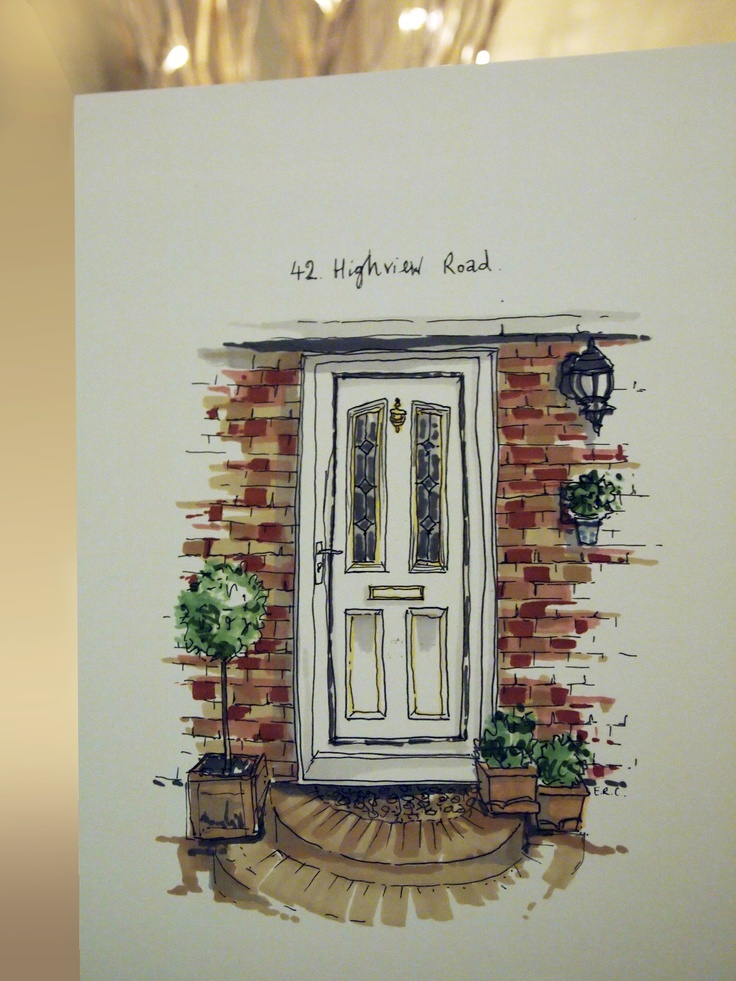 bespoke front door illustration from HomemadeHouse