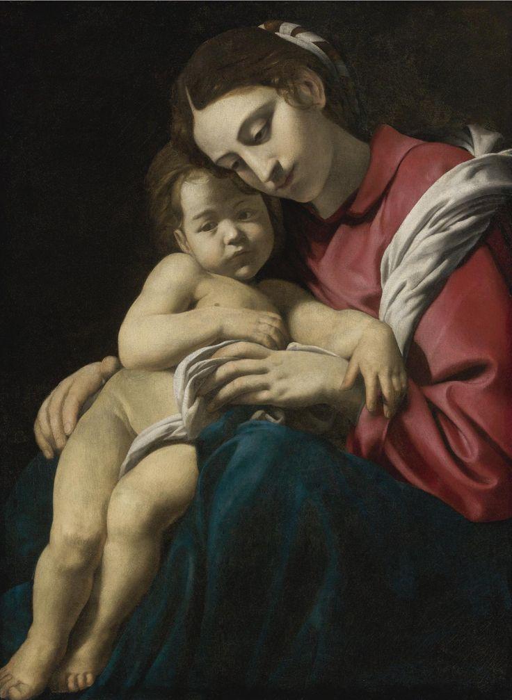 Giovanni Battista Caracciolo,  also called Battistello  (1578-1635)  — Madonna and Child, c.1630's   (1280×1752)