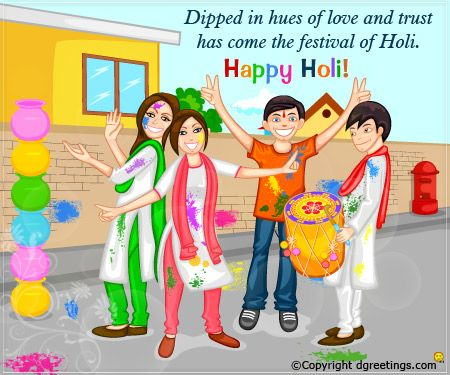Wish your friends a happy holi with this colorful Holi Card. #Holi #Card