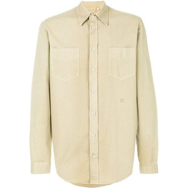 Massimo Alba military shirt (259,485 KRW) ❤ liked on Polyvore featuring men's fashion, men's clothing, men's shirts, men's casual shirts, green, mens military style shirt, mens cotton shirts, mens green shirt and mens military shirt
