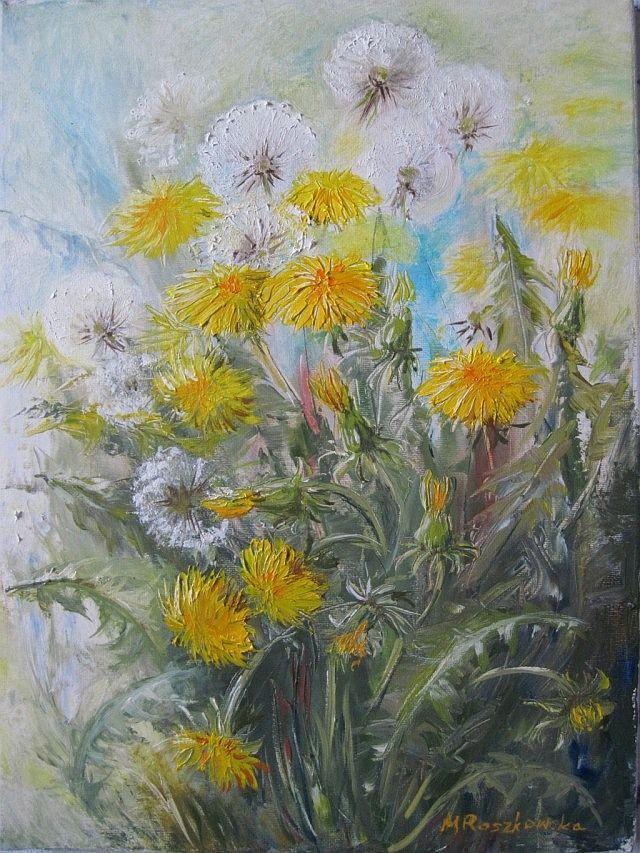 Mniszki - Maria Roszkowska - obraz olejny