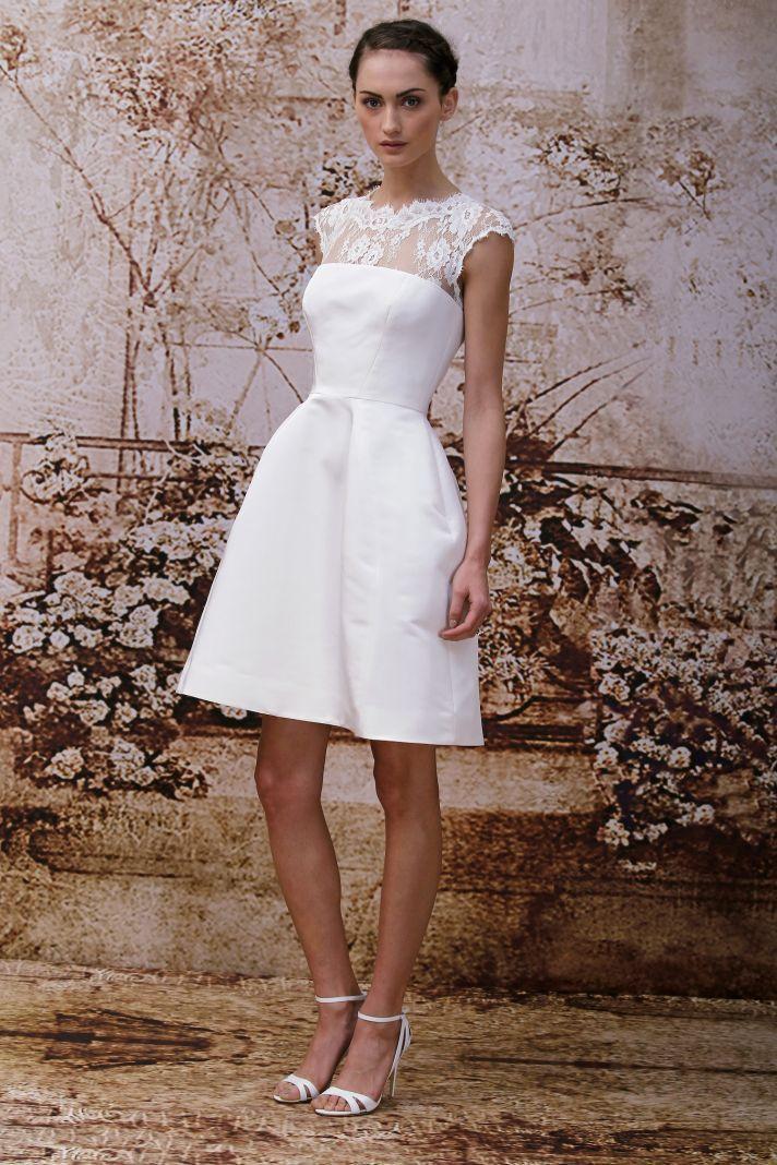 Monique Lhuillier's Secret Garden Wedding Dress Collection   love the neckline