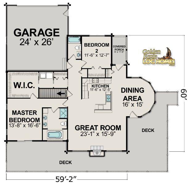 43 best floor plans images on pinterest | log homes, log home