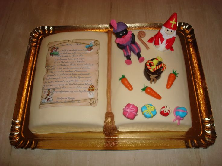 Het boek van Sinterklaas - taart
