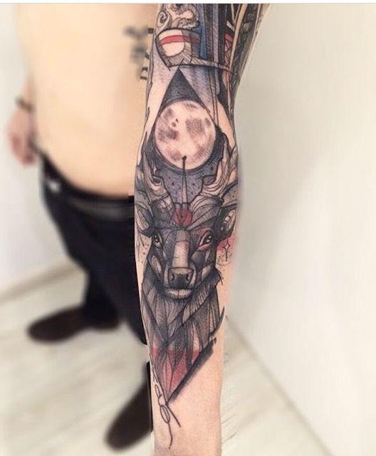 Deer #deer #cervo #tattoo #lincoln