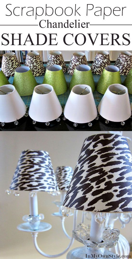 Make These Any Style You Want Easily With Sbook Paper Diy Chandelier Shade Covers Lampshade