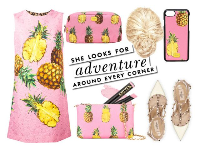 """""""Dolce and Gabbana: Pink and Yellow"""" by iamfabianasm on Polyvore featuring moda, Dolce&Gabbana, Valentino y Kate Spade"""